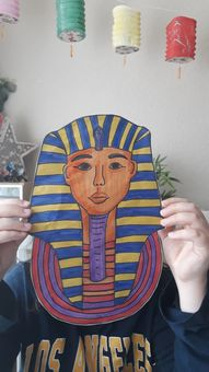 An amazing Pharaoh's mask created by Joel