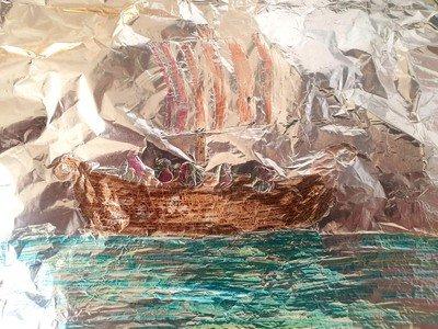 Sophia's tin foil Longship