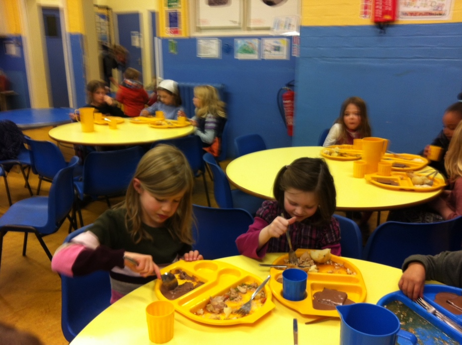 Children Eating in Dining Hall