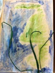 Our seahorse artwork.