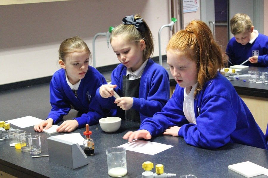 Our Year 5 Scientists at St Paul's Taster Day
