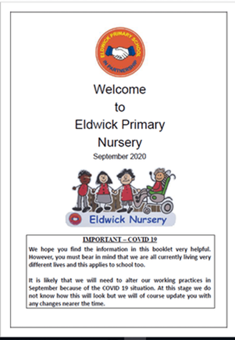 The Welcome to Eldwick Primary Nursery Booklet sent by post