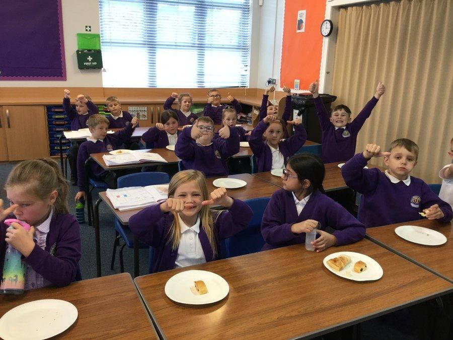 We tasted croissants, pain au chocolat, brie and baguette!