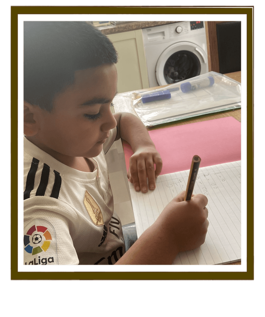 Ayaan has been busy practising his number formation and adding the correct amount of objects. Well done Ayaan!