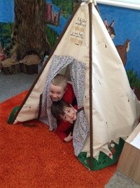 Loving our story tent!