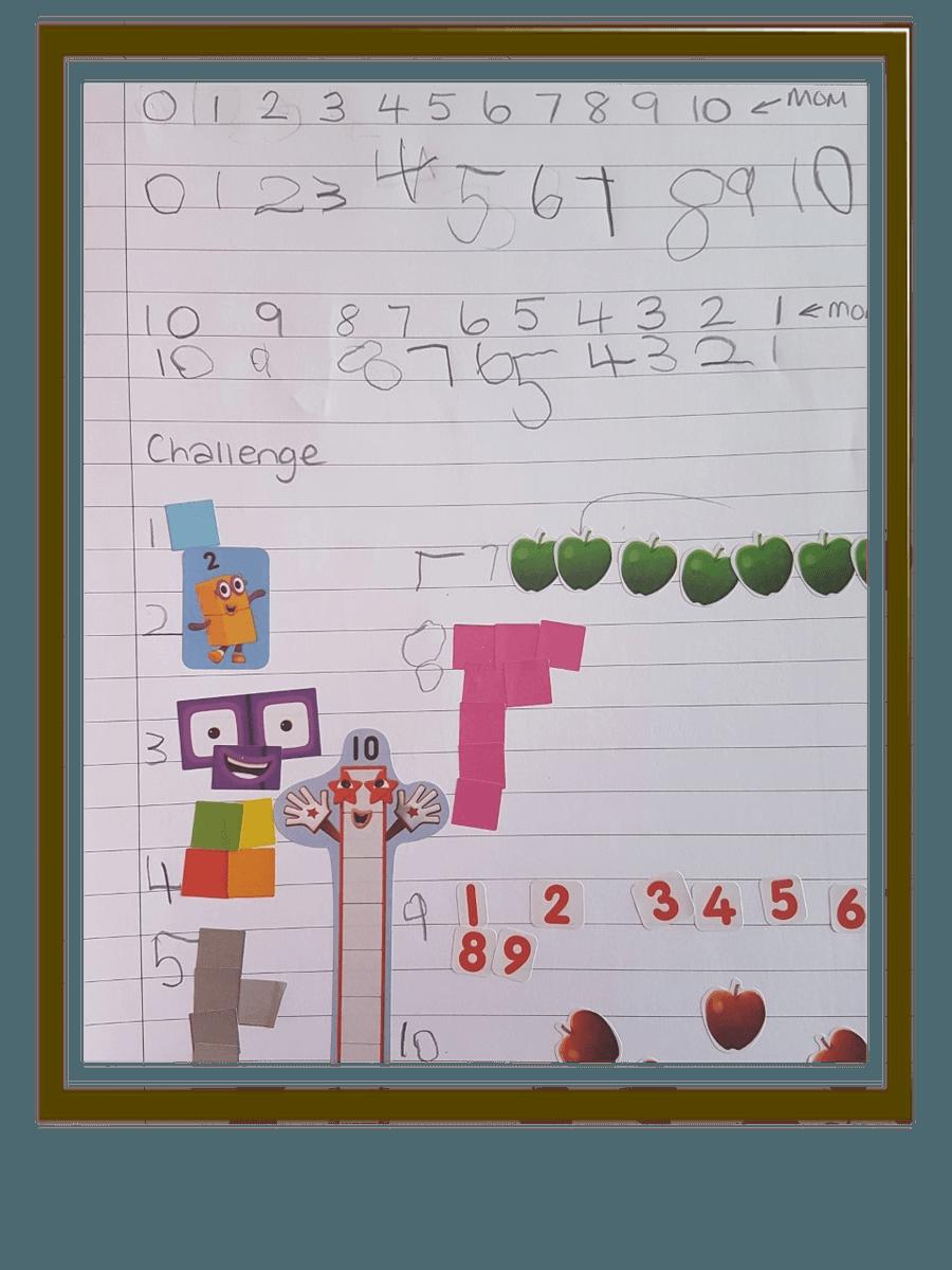 Dexter has been a busy maths bee! Great work Dexter.
