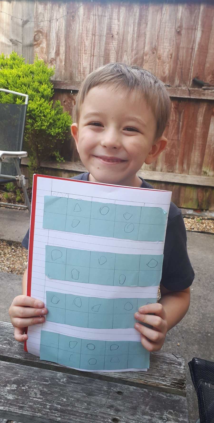 Reece had a go at showing all the different ways 5 can be represented, well done!