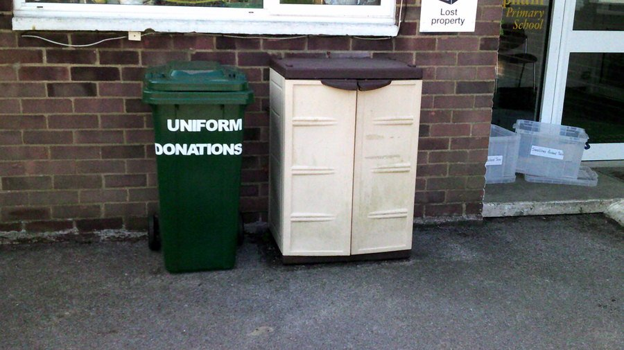 Put any 2nd hand uniform donations here please!