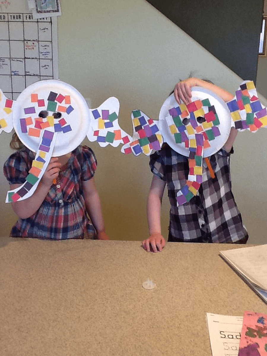 You can try to make your own elephant masks using paper plates. Will you choose to make a grey elephant or a colourful Elmer?