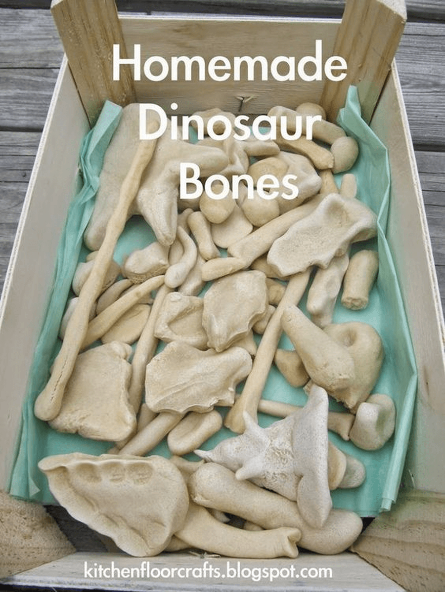 Make some of your own dinosaur bones using play or salt dough. Can you match them to the right dinosaur?