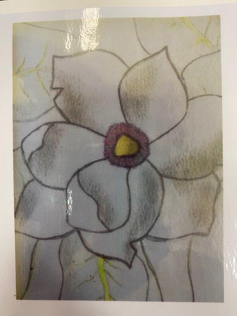 2020 - Jamie's super flower drawing.
