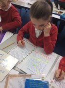 Editing our Dragon stories.