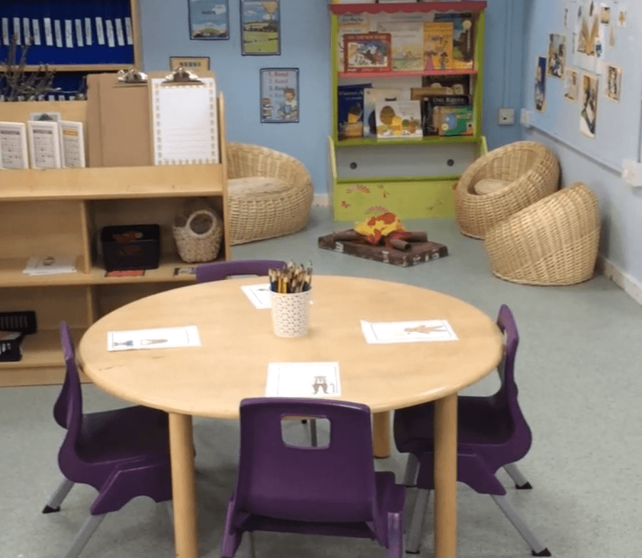 One of our reception classrooms