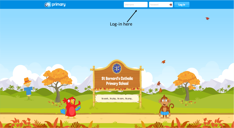Click on the picture to access this login page