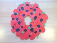 Our Remembrance Wreath ready for the Remembrance Service