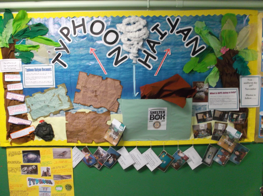 P6/7 Typhoon Haiyan display