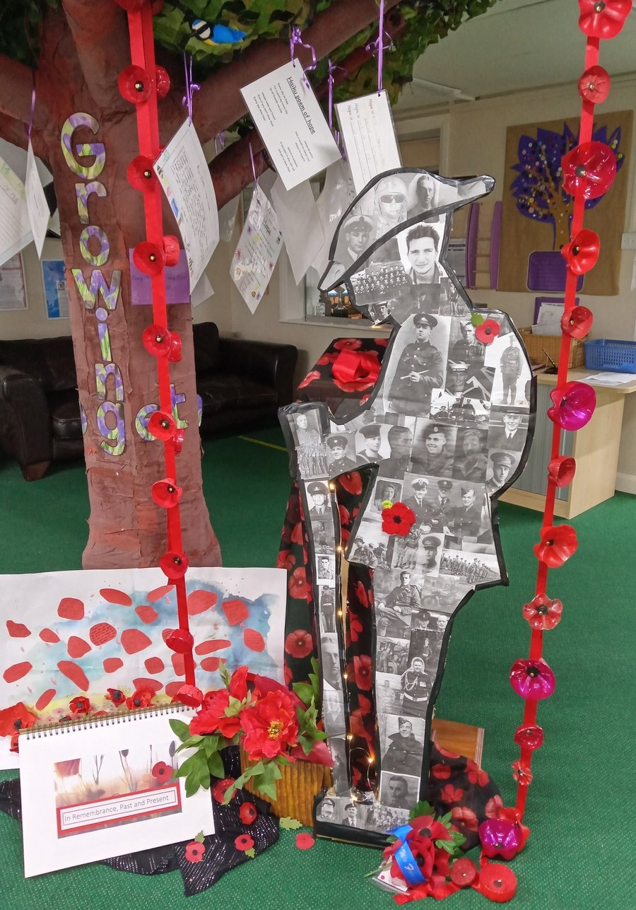 The Words of Laurence Binyon    -     They shall grow not old, as we that are left grow old: Age shall not weary them, nor the years condemn. At the going down of the sun and in the morning We will remember them.  -    Trinity All Saints Primary School, Bingley