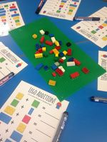 Use lego to combine 2 groups e.g.3 pieces of red lego add 2 pieces of yellowlego equals 5 pieces of lego etc.