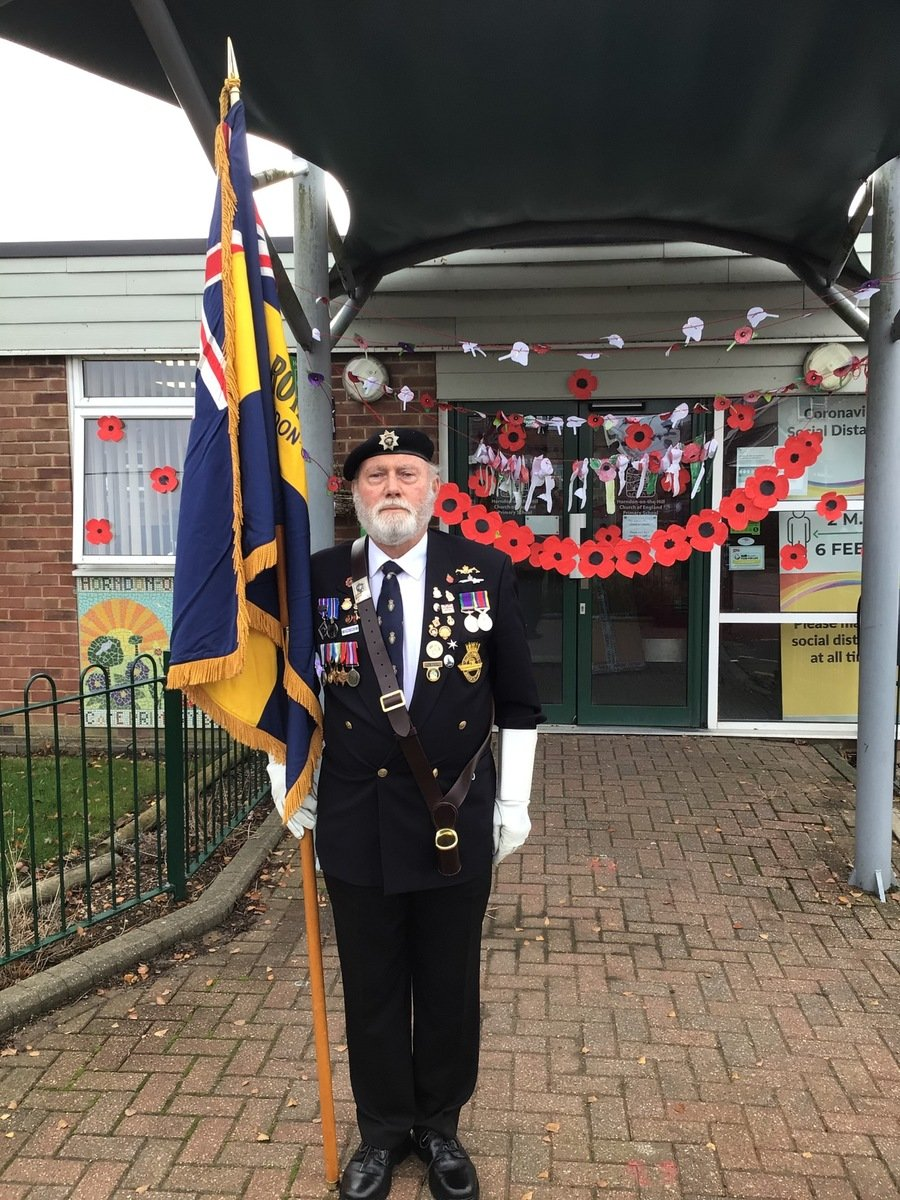 Thank you to Bill Raynor for coming along to the school and leading our 'alternative' Remembrance Service.