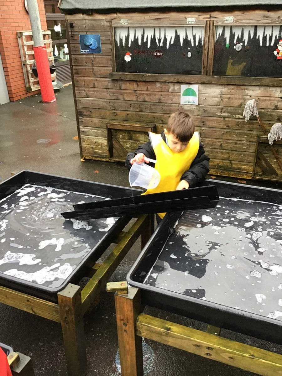 Water play can be therapeutic and can enhance motor and problem solving skills. It is also a great way to learn about capacity and volume.