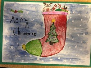 Christmas cards to local care home residents