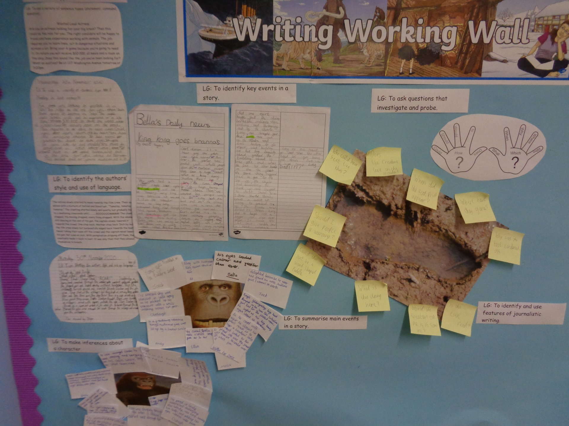 Our working wall