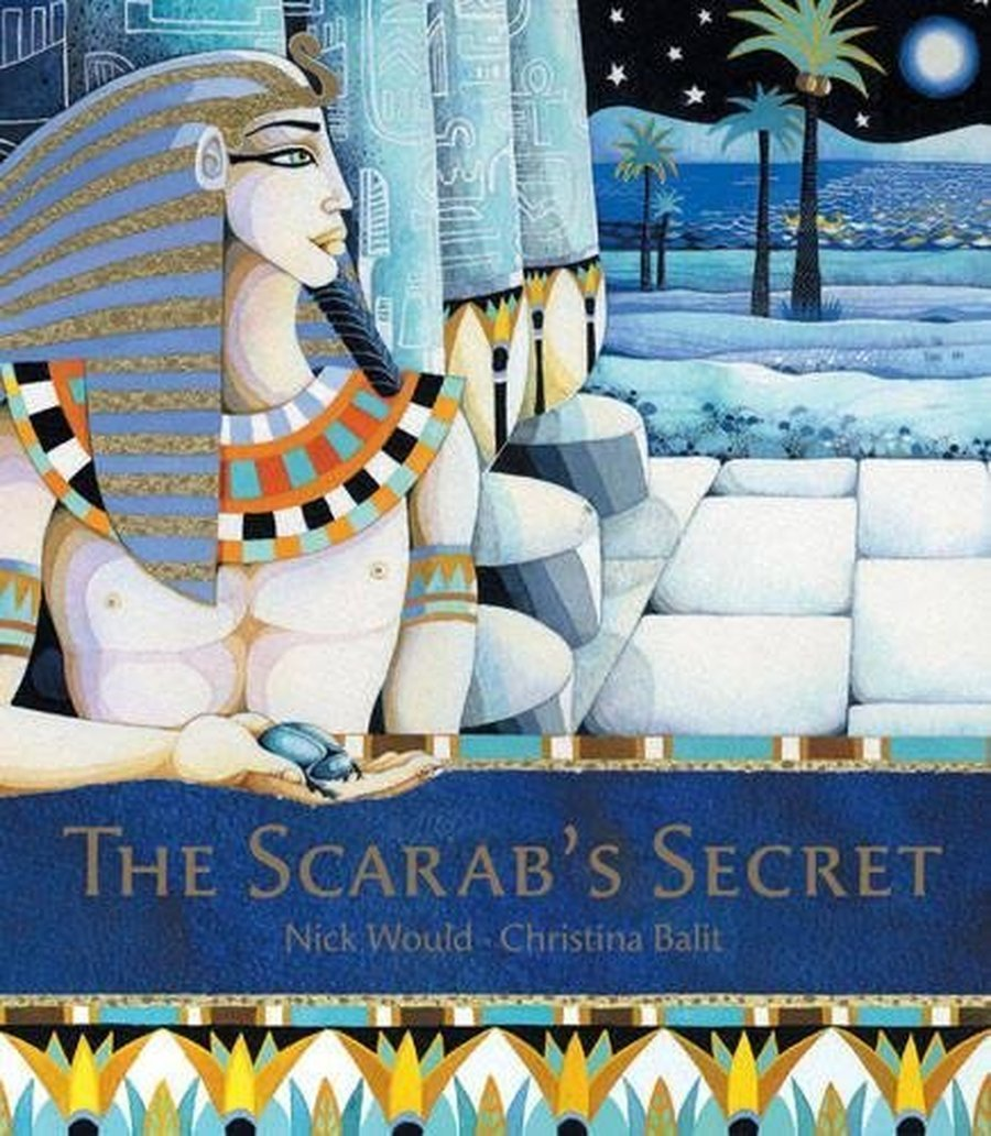 This was our shared class text 'The Scarabs Secret'