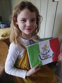 Edie's Brilliant Mexico flag!