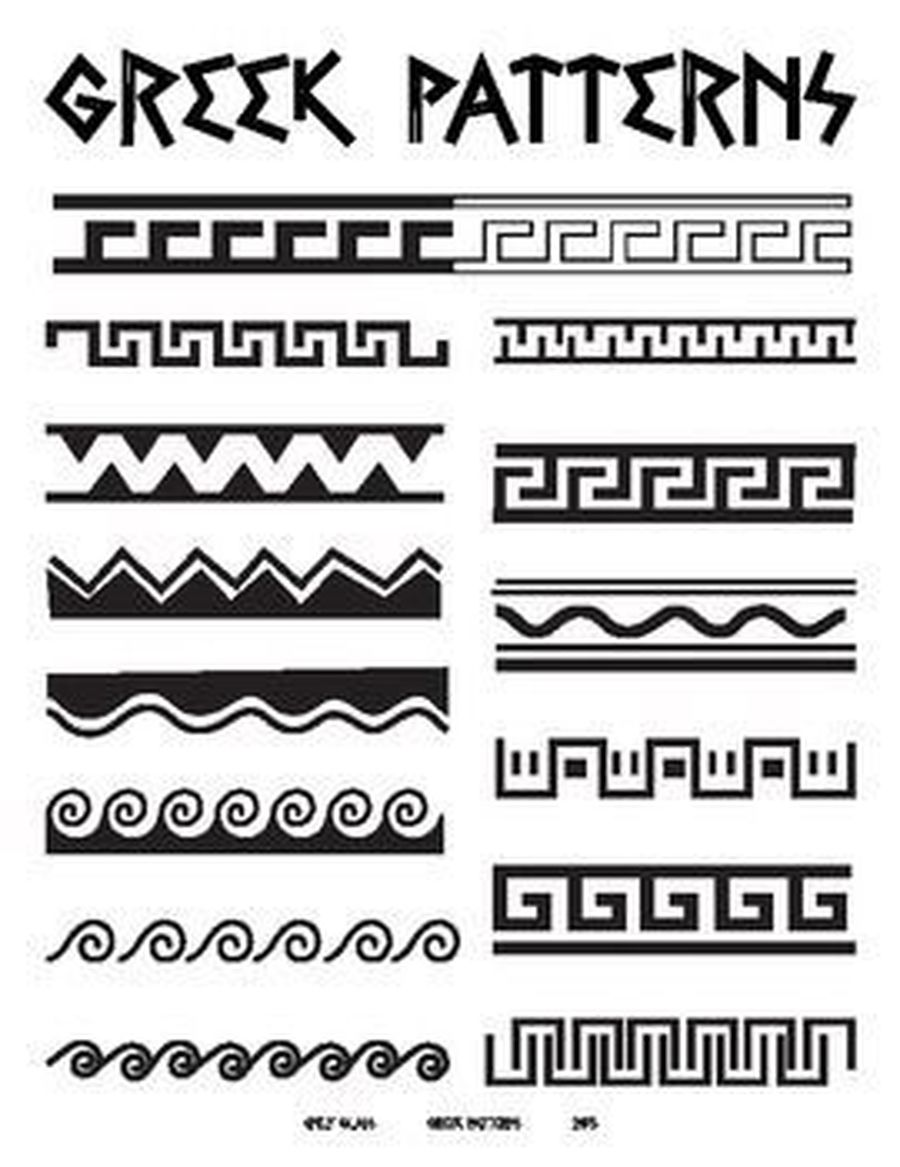 Greek patterns for your art lesson this week