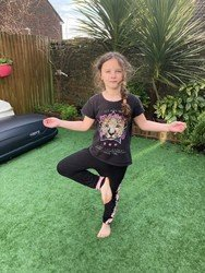Emily's yoga pose