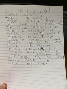 Fletcher's diary entry