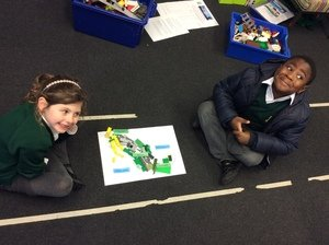 Libby and Bernie made Mexico out of Lego!