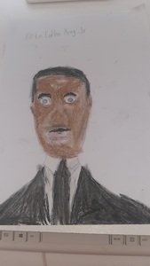 Corey's Martin Luther King drawing