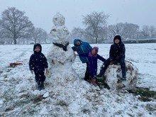 The Nichols had fun in the snow