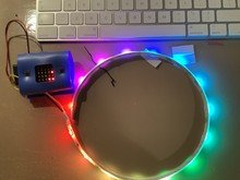 The code changed the LED light colour