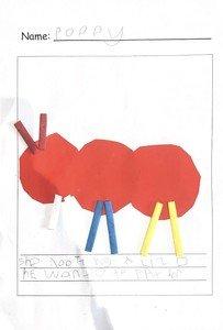 Poppy's Little Red Ant writing