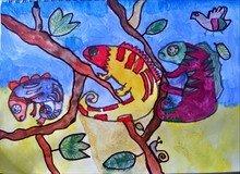 Elvi's chameleon art