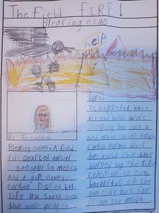 Janella's newspaper report