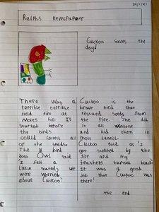 Ralph's newspaper report