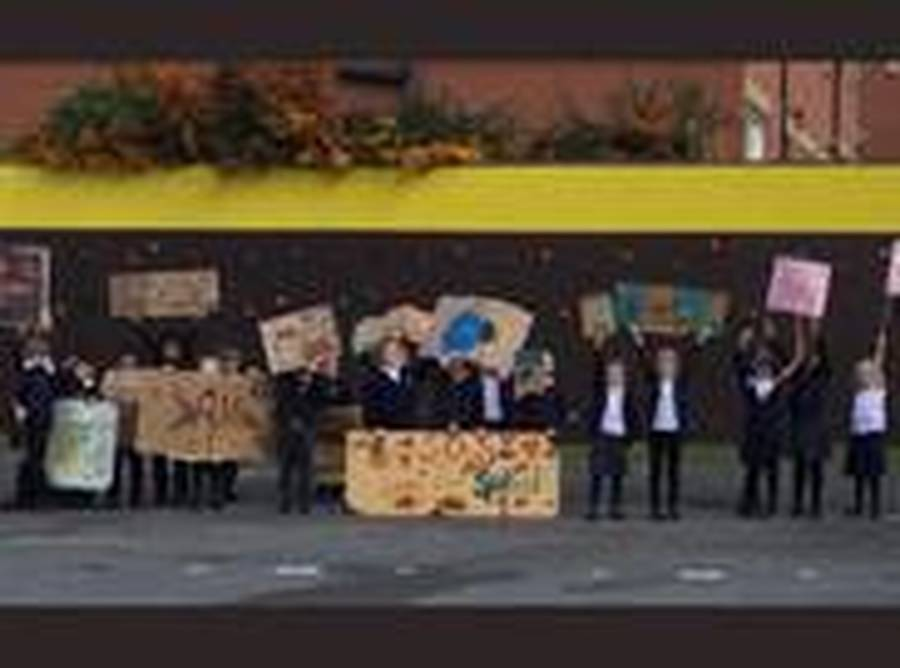 After learning about Greta Thunberg and her strike action, Year 2 took part in their own 'peaceful protest' to save the hedgehog's habitats.