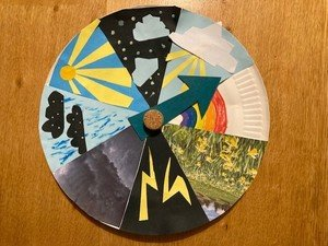 Eli's weather wheel. What will the weather be today?