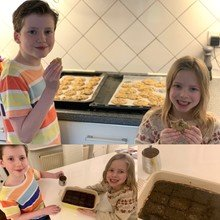 Sebbie and Grace have been busy baking