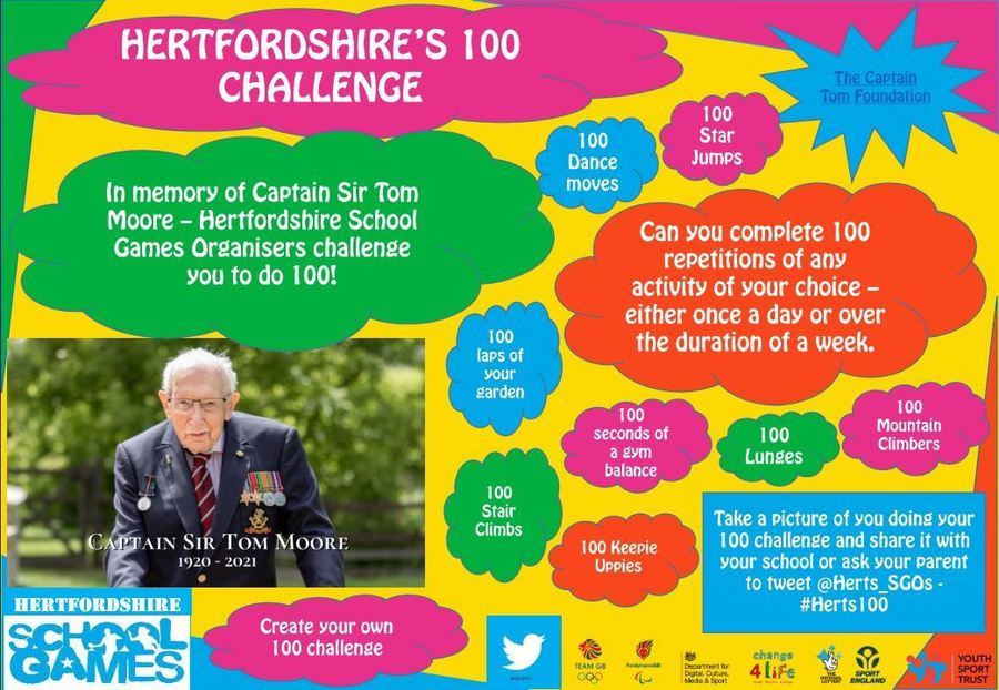 Click here to download the Hertfordshire's 100 Challenge poster