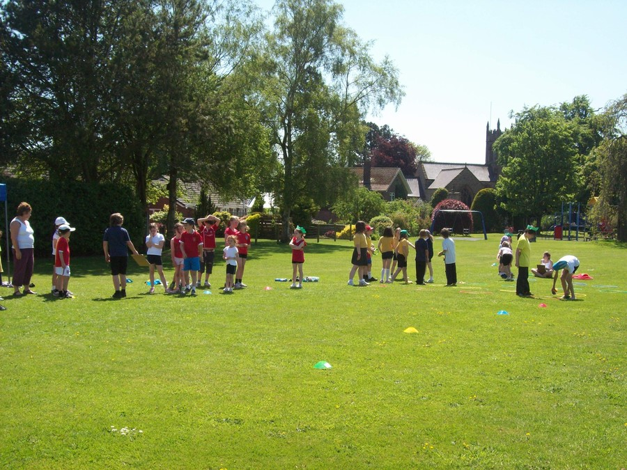 Sports session at playing fields