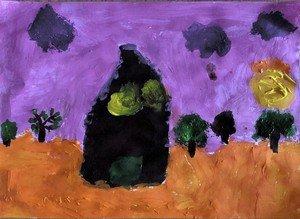 Poppy's painting of Elena's dream