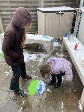 Fifi's snow painting