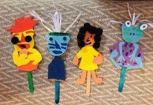 Jacob's brilliant Blue Frog puppets