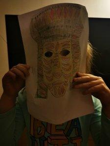 Nora's Mayan mask