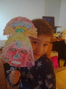 Sophia's Mayan mask
