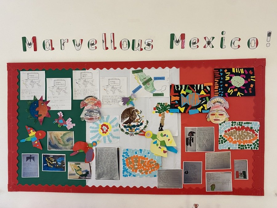 Here is our Marvelous Mexico topic display! Can you find your work?